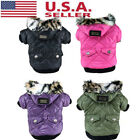 Pet Large Dog Jacket Winter Warm Coat Puppy Clothes Hoodie Padded Apparels USA