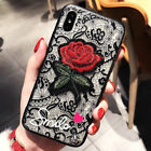 F Iphone 8 Plus 7 Plus XS MAX XR 6 X Shockproof Rose Cute Girls Phone Cover Case