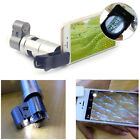 Clip-on 200X Optical Zoom HD Microscope Camera Lens W/ LED Light For Smart Phone