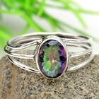 Biggest Sale 925 Sterling Silver Mystic Topaz Gemstone Handmade Ring All Sizes