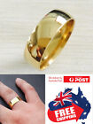 Stainless Steel 14k Gold Plated 8mm Polished Wedding Band Ring Mens &womens 1pc