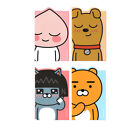 Kakao Friends Multi 4 Sticky Notepad Memo Various Cute Design Stationery Apeach