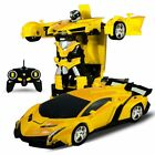 1:18 Transformer RC Robot Car Remote Control 2 IN 1 Kids Boys Toy B-Day Gift US