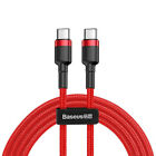 Baseus Type C Cable to USB C for IP Notebook PD 60W QC3.0 3A Fast Charging Cable