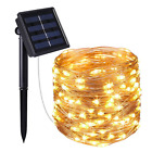 Outdoor Solar Powered 16.5Ft 33Ft 50 100 LED 5M10M Copper Wire Light String Xmas <br/> Brand New,High Quality,All Passed Test Before Shipping