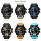 SMAEL Fashion Mens Waterproof Date Alarm Digital Sports Military Quartz Watch US image
