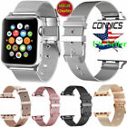 For Apple Watch Series 5 4 3 40mm 44mm 38/42mm Stainless Steel iWatch Band Strap image
