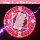 10W Obeahism Array Glowing Qi Wireless Fast Charger Pad  for iPhone XS Max XR XS 8