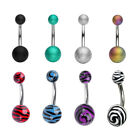 Mix Style Stainless Steel Body Piercing Navel Belly Ring Rhinestone Button Setam