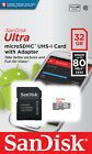 SanDisk Micro SD Card 16GB 32GB 64GB 128GB TF Class 10 for Smartphones & Tablets