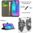 For Honor 10 Lite Case Phone Wallet Cover Leather Book Flip + Touch Stylus