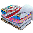 Large Pet Dog Bed Warm Plush Cushion Comfy Sleeping Mat for Kennel Crate Blanket