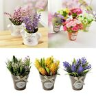 Artificial Fake Small Bonsai Flower Plant + Vase Home Craft Wedding Party Decor