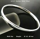 Bangle Bracelet Real 18k Yellow White Rose G/F Gold Solid Russian Golf Design