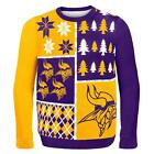 Foco NFL Mens Busy Block Ugly Sweater Acrylic Hand Made Ugly Sweater Parties