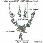 Women Jewelry Set Rinestone Hollow Crystal Necklace Earrings Wedding Bridal Gift