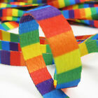 DOUBLE SIDED EMBROIDERED RIBBON 9MM RAINBOW DESIGN GAY PRIDE