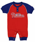 """Majestic MLB Infant Philadelphia Phillies """"Game Time"""" Coverall"""