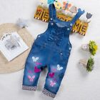 Baby Girls Casual Jeans Infant Girl Denim Jumpsuit For Toddler Overalls Pants