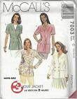 McCalls Sewing Pattern # 7003 Misses Lined or Unlined Jacket Choose Size