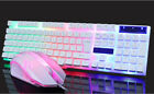 Rainbow Suspended Backlight Wired Luminated USB Keyboard & Mouse Set