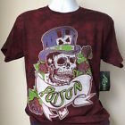 Poison New Vintage Retro Bret Michaels 1987 Cat Tour Skull Album Men's T-Shirt! image