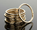 Kyпить Stacking Ring 14K Yellow Gold-Filled Hammered Texture Handcrafted Ring iDu на еВаy.соm