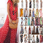 Womens Boho Floral Long Maxi Dress Summer Beach Evening Party Cocktail Sundress $11.39 USD on eBay
