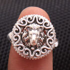 solid designer Lion face Ring 925 Sterling Silver charms Ring Jewelry all Size