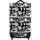 Elvis Black  White Checked Caseskinz SUITCASE Cover SUITCASE NOT INCLUDED