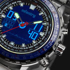 INFANTRY Mens Digital Quartz Wrist Watches Alarm Sport Military Stainless Steel image