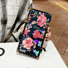 For iPhone XS Max XR 8 7 6 Luxury Metal Grid Plaid Leather Strap Soft Case Cover