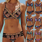 Womens Bohemia Beach Bikini Set Push-Up Padded Bra Swimsuit Swimwear Bathing Set
