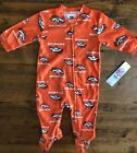 NEW WITH TAGS Denver Broncos Baby Fleece One Piece Footed PJs Sleeper Orange NFL on eBay
