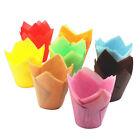50Pcs Solid Color Cupcake Wrapper Liners Muffin Cup Tulip Case Cake Paper Baking