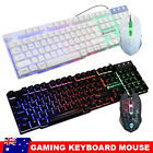 Ergonomic Gaming Keyboard Mouse Pad Usb Led Backlight For Pc Laptop Mac Game Lol