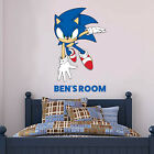 Sonic The Hedgehog Wall Sticker - Sonic Personalised Name Vinyl Art Decal