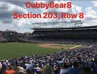 (4) Chicago Cubs Tickets vs Mets 6/20/19  Sec 203 Lowers NO POLES on Ebay