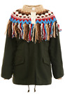 Sacai bolivia fringed parka 18 04022 Off White Khaki - Authentic