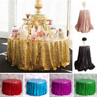 Round Sequin Tablecloths Rose Gold Silver Table Cloth Cover Wedding Event Party