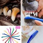 Dog Teeth Cleaning Toothbrush Soft 2 Head For Small Medium Large Dogs Pet Supply