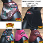 HILASON WESTERN HORSE LEG PROTECTION NO TURN BELL BOOTS PAIR ALL COLOR U-1-MX