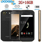 "Doogee S30 2+16gb 5580mah Android Quad Core 5.0""4g  7.0 Ip68 Phone 5580mah Uk"