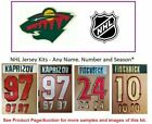 NHL Minnesota Wild Lettering Custom Jersey Kit ANY YEAR Name Number UNSEWN