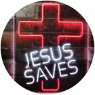 Jesus Saves Cross Home Decoration Night Light Dual Color Led Neon Sign st6-i3140