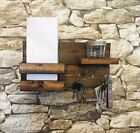 Key Mail Holder Organizer Magazine Letter Newspaper Shelf Wall Mount Rustic