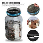 LCD Counting Money Clear Digital Piggy Bank Coin Savings Counter Jar Funny Gift
