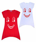 Girls Red Nose Day T-shirt Kids School Red Top Ages 5 6 7 8 9 10 11 12 13 Years