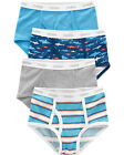 NWT OshKosh 4 5 6 7 8 10 12 Sharks Stripes 4 Pack Underwear Boys Briefs NEW