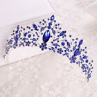 7cm High Leaf Crystal Wedding Bridal Party Pageant Prom Tiara Crown 4 Colors